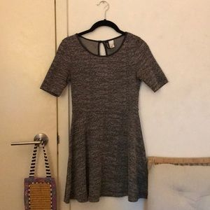 Black and white texture dress